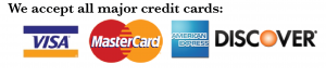 All Major Credit Cards are accepted for your heating or air conditioning repair
