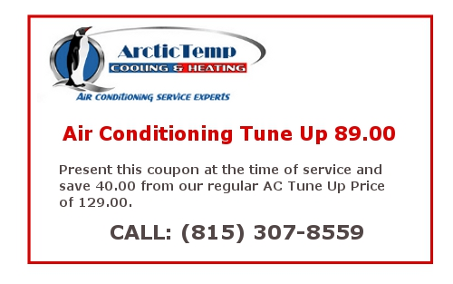 ArcticTemp AC tune -up for Crystal Lake Heating and Air Conditioning